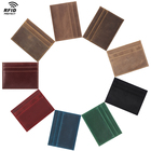 Tiding High Quality Custom Logo Cardholder Men Wallet RFID Real Calf Leather Made Thin Credit Card Holder Male