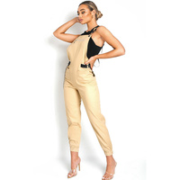 OEM canvas women suspender skinny trousers pants