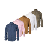 Best selling custom made fashion full sleeve pocket business casual shirts for men long sleeve