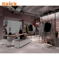 Factory price fashion boutique store layout clothes shop furniture design wall clothing display rack shop decoration