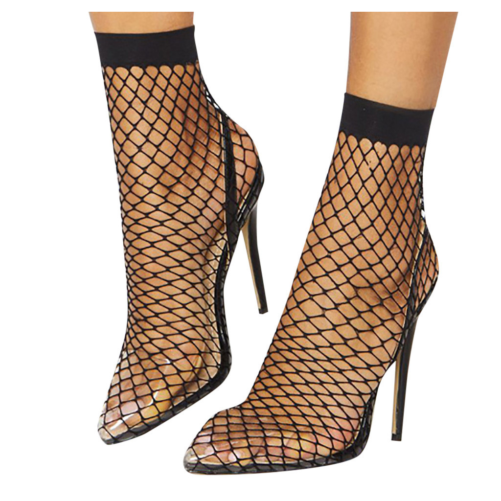 Пикантные Босоножки на каблуке для стриптиза; женская прозрачная обувь; популярные босоножки в сеточку; женские босоножки для ночного клуб...(Китай)