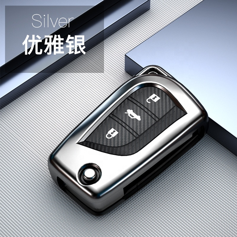 Carbon fiber pattern Car <strong>Keys</strong> For Toyota Hilux Revo Innova Rav4 Fortuner Crystal <strong>key</strong> Rings