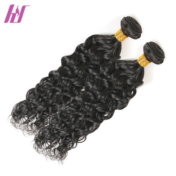 Wholesale brazilian virgin sew in extensions ocean wave wet and wavy human hair weave bundle