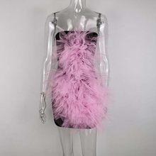 JillPeri женское сексуальное мини-платье без бретелек, модное Сетчатое платье с розовым цветочным принтом, праздничное платье знаменитостей, о...(Китай)