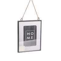 "4X6"" Fine Wall Decor Metal Picture Photo Frame With Hanging Rope"