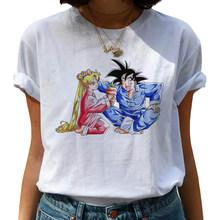 Забавная футболка Dragon Ball Z Harajuku для женщин, Kawaii Son Goku, аниме, футболка, Супер Saiyan Ullzang, футболка, 90s, Графический Топ, женские футболки(China)