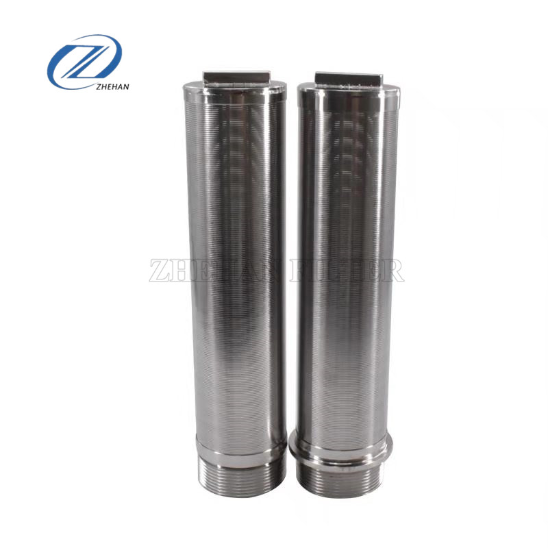 316L stainless steel wedge wire filter/ wire wound filter screen graphene, lubricating oil, grinder screen