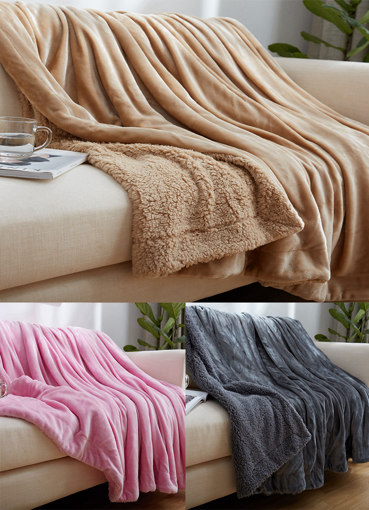 "Ultra Soft Flannel Fleece All Season camel Throw 50""*60"" Light Weight Living Room,Bedroom Warm Blanket"