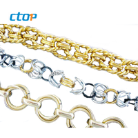 wholesale custom designer iron aluminium stainless steel decoration custom bag chain fashion bag chain supplier handbag chain