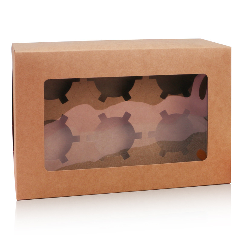 6 <strong>grains</strong> / white card leather muffin box brown card cup cake box muffin cup box