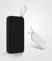 Good quality new coming 10000mAh rechargeable power bank portable mobile phone built in cable power bank