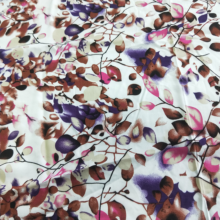 HANLIN Textile Stocks Woven 45s Rayon Chaille Print Fabric
