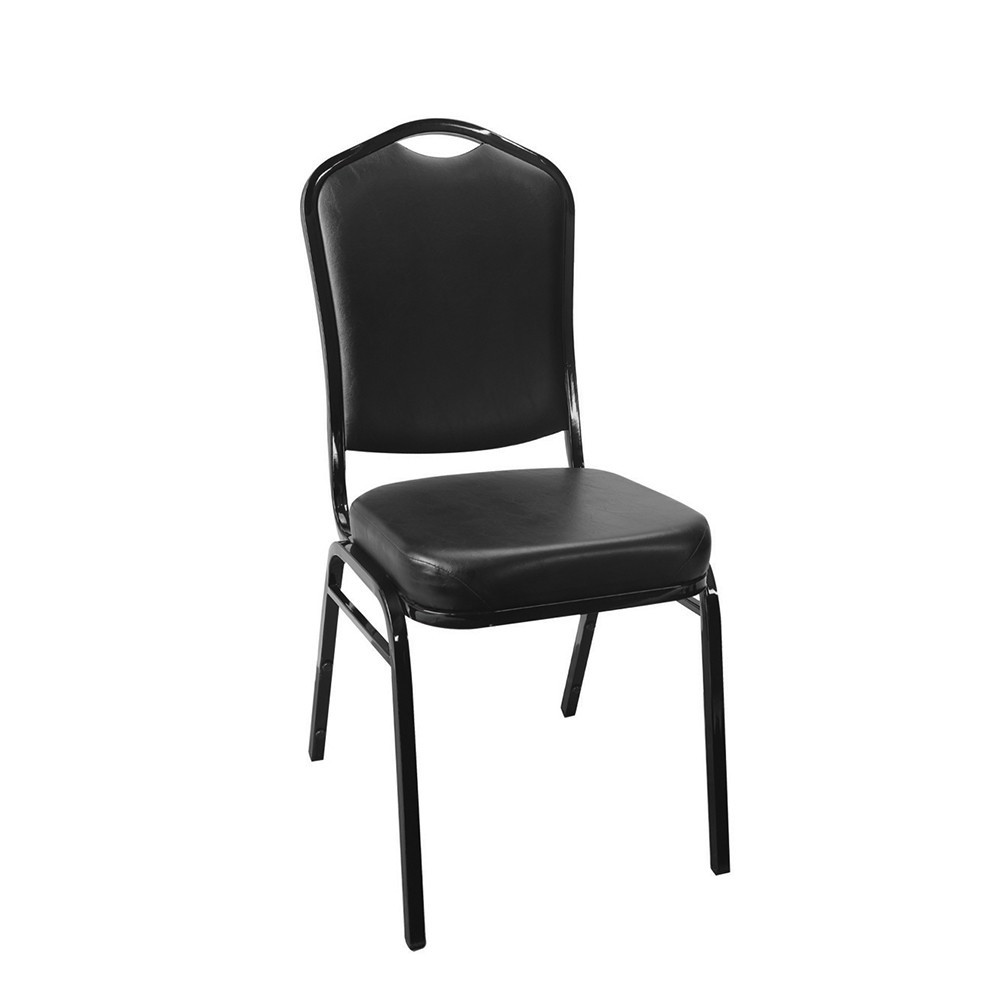 Modern black powder coating hotel dining chairs