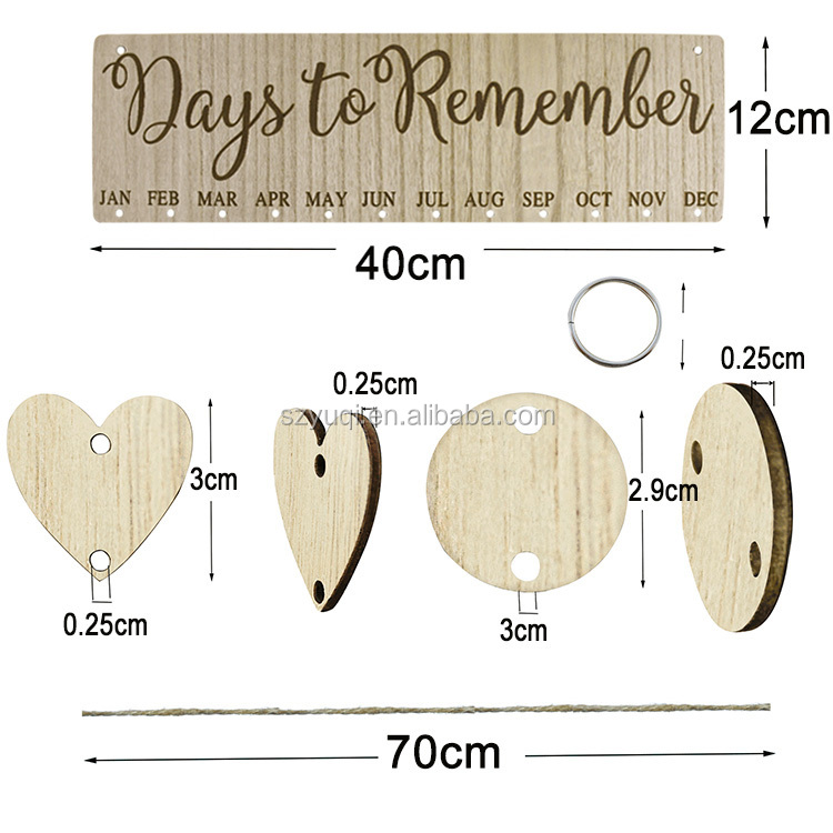 Amazon Top Seller Wood Crafts DIY Advent Wooden Calendar Handmade Gifts For Family Friends