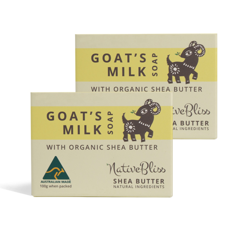 NativeBliss Australian original goat milk soap with shea butter for baby and whole family