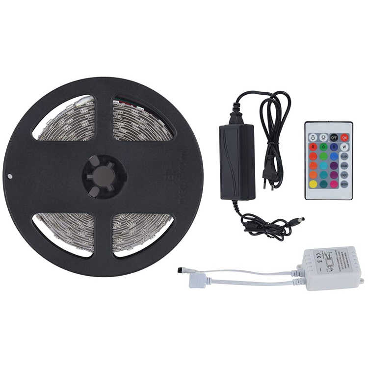 High Lumen Smd 2835 5m Ip65 300leds Rgb Led Strip 12v Color Smart Flexible Led Strip Light