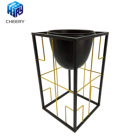 Pot Wholesale Price Tall Decorative Indoor Garden Metal Planter Flower Pot In China