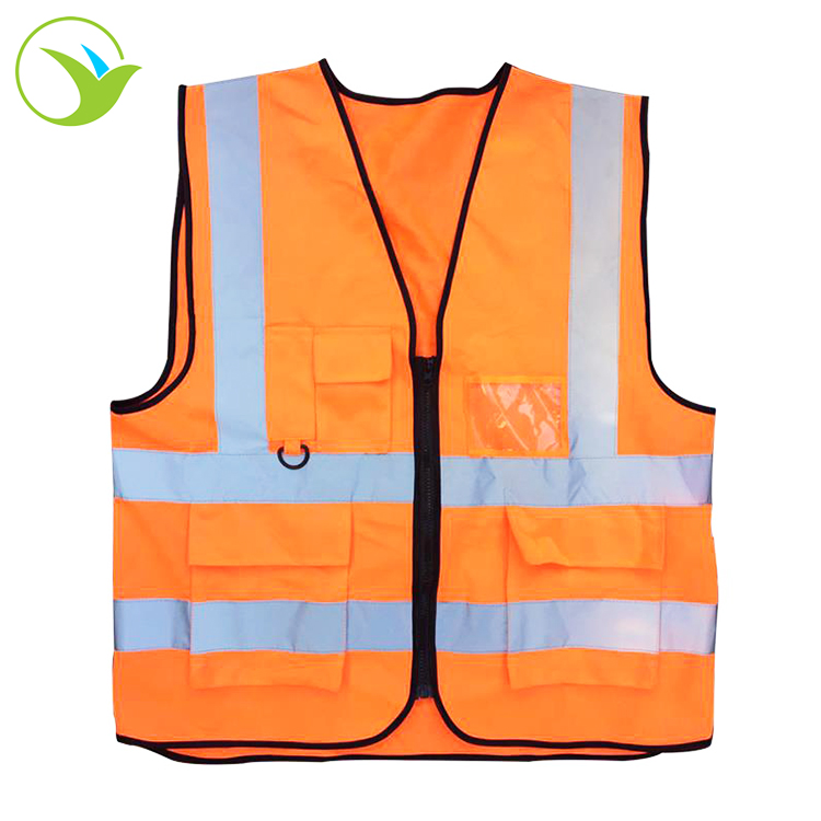 High Visibility Safety Traffic Engineering Uniform Workwear <strong>Orange</strong> Construction Reflective <strong>Vest</strong>
