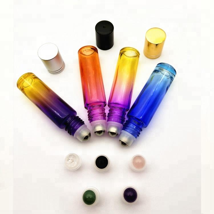 Kunststoff roller flasche kann immer wieder gefüllt mit ätherisches öl lip gloss parfüm glas ball flasche transparente abdeckung