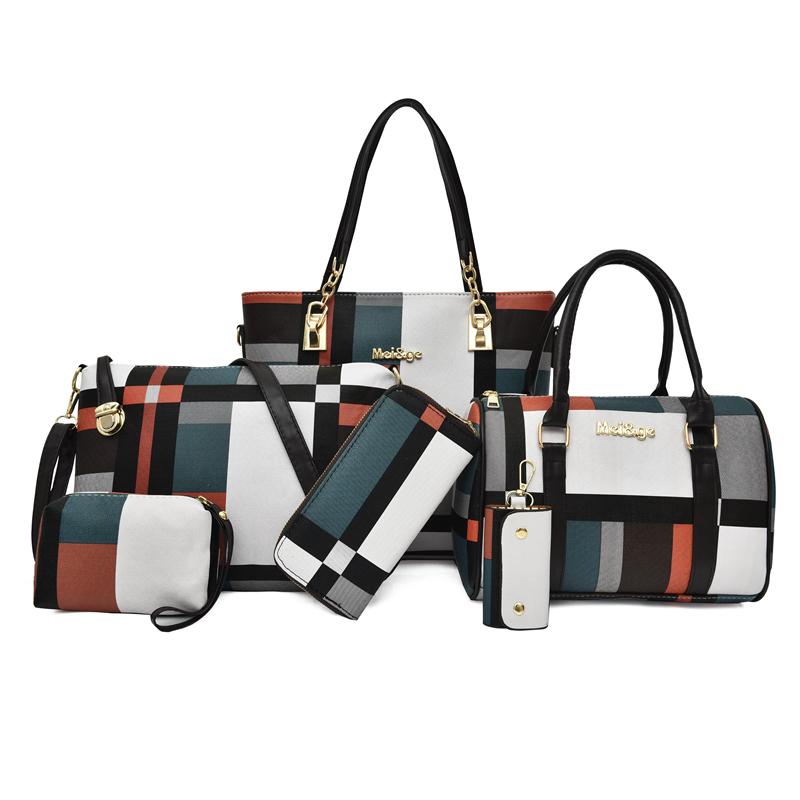Fashion Ladies Bag Handbags Sets 6 in 1 Handbag for Women
