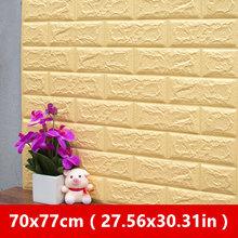 Сделай Сам Adhensive 3D кирпичные настенные наклейки Декор для гостиной пена водонепроницаемое покрытие для стен обои для телевизора фон для дет...(Китай)