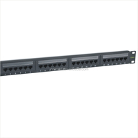 CAT5E 24 Port RJ45 Dual IDC Network Patch Panel with Surface Wall Mount Bracket