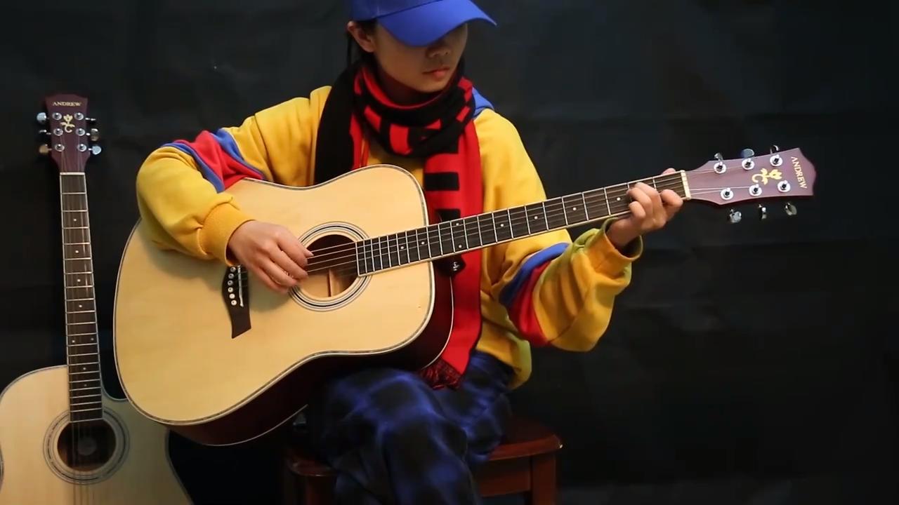 41-inch folk guitar  6 brass strings electric  acoustic guitar