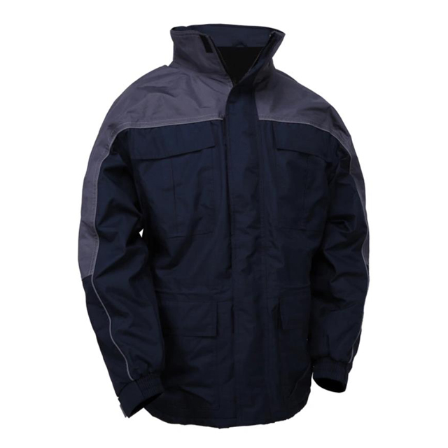 Large Winter Parka with Synthetic Lining and Detachable Fleece-Lined Hood
