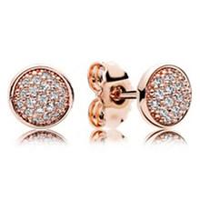 Новая мода, 100% 925 пробы, серебряные серьги розового золота, подходят для Европы, Женские Ювелирные изделия с логотипом, оптовая продажа с фаб...(Китай)