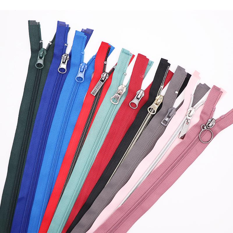 Yüksek kalite 3 #5 # renkli naylon fermuar ucuz fiyat fantezi naylon fermuar satılık açık uçlu fermuar 5 naylon bagaj çantaları