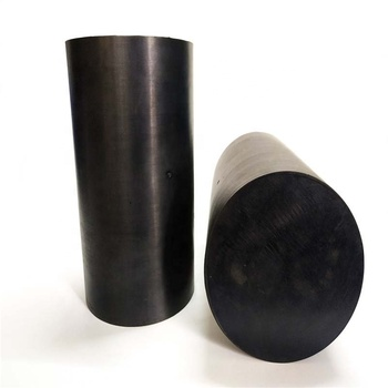 High elasticity black solid rubber rod
