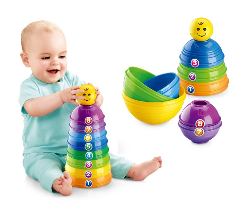 Plastic Baby Toy | Intelligent Baby Toye other carrinho <strong>para</strong> bebe | Baby stack up cups