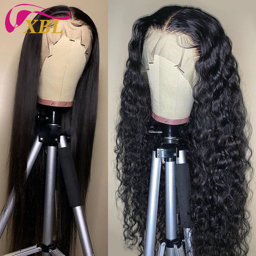 XBL Drop Shipping 180% Full Cuticle Aligned Human Hair lace front Wig,Free Sample Ocean Wave Brazilian human wig for black women