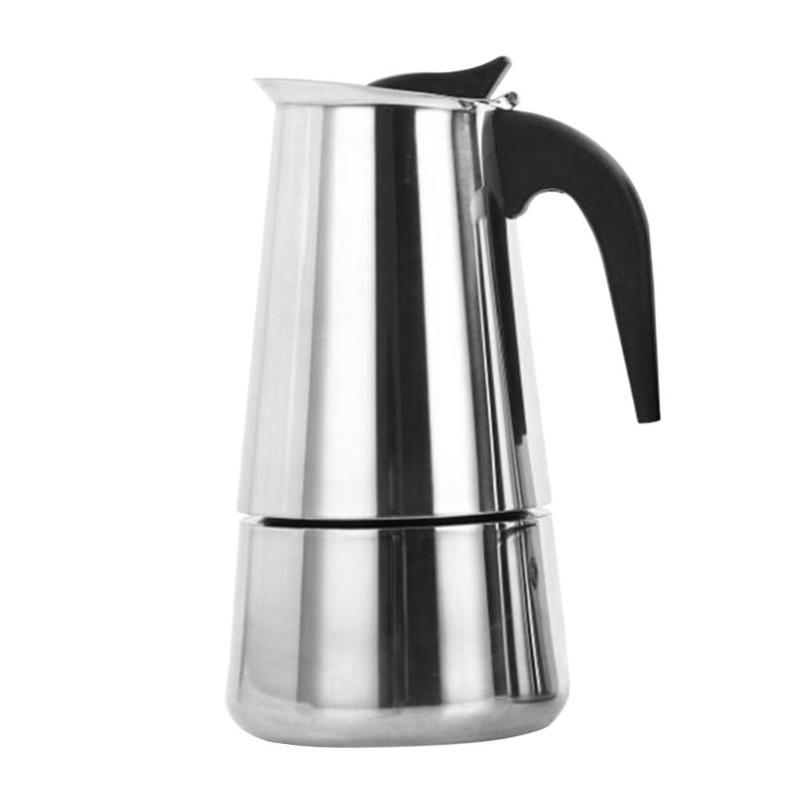 100 мл/200 мл/300 мл/450 мл портативная Эспрессо кофеварка Moka чайник из нержавеющей стали чайник для кофе(Китай)
