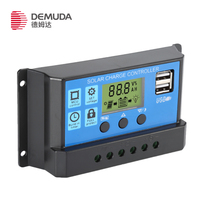 Solar charge controller 12v 24v 10a 20a 30a LCD display intelligent PWM Solar Charger Controller