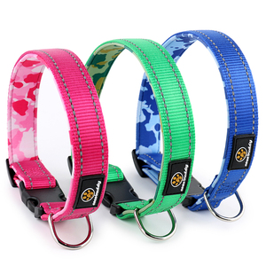 Wholesale Luxury Neoprene Padded Nylon Designer Pet Product Custom Collar