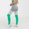Tri-color stitching-green pants