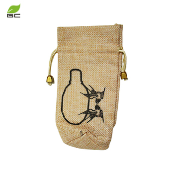 2019 Promotional custom printed   gift gunny bag with logo