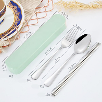 Cute Portable Travel children cutlery set stainless steel Adult Cutlery box  travel or Camping cutlery Picnic Set