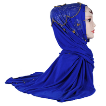 M-100 Gros noble Femmes <span class=keywords><strong>Hijab</strong></span> très <span class=keywords><strong>belle</strong></span> Paillettes Strass Foulard Musulman <span class=keywords><strong>Hijab</strong></span> De Mode