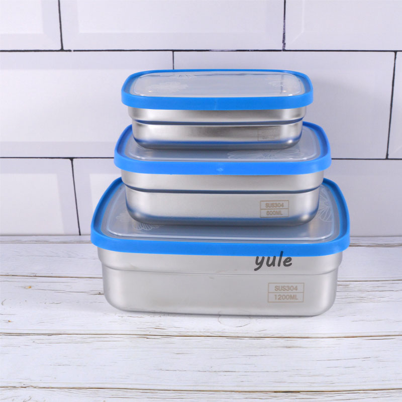 Hot sale 3 pcs Stainless Steel Bulk lunch box for storage Container