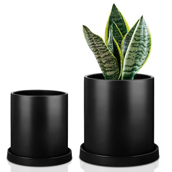 2020 hot sale Amazon style large round simple matte succulent ceramic plant pots