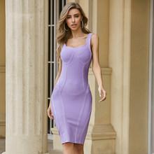 2020 женское сексуальное дизайнерское Бандажное платье с открытой спиной до колена, уличное вечернее платье в стиле знаменитостей Vestido(Китай)