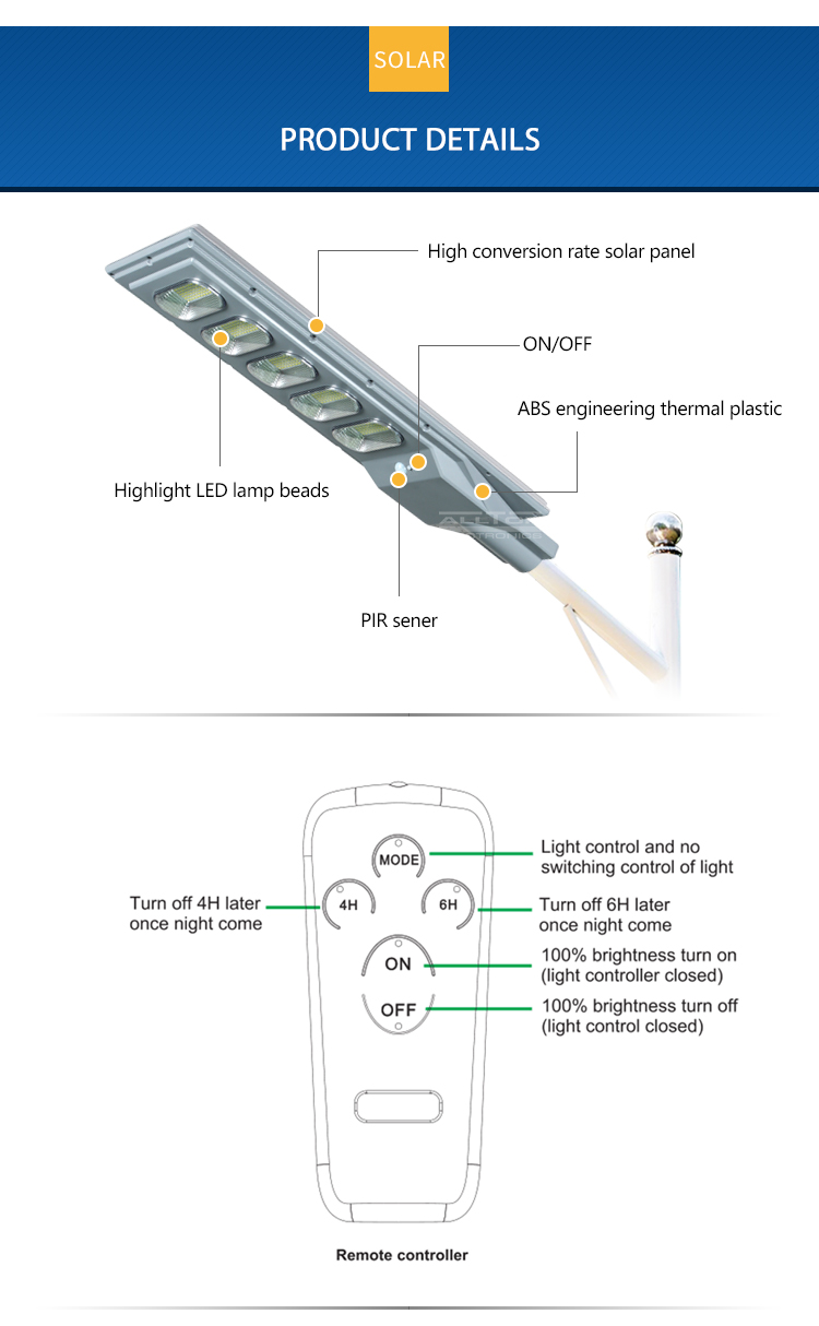 ALLTOP solar street light with panel and battery best quality manufacturer-15