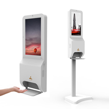 floor standing network advertising player hd lcd tft screen digital signage hand sanitizer