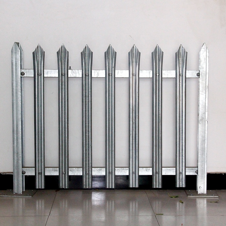 Hot dipped galvanized steel palisade fencing/pvc security palisade fence panel