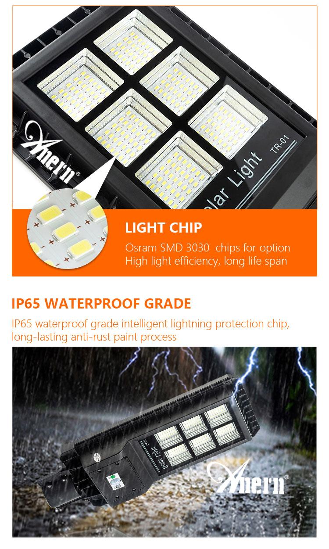مصباح متحرك يعمل بالطاقة الضوئية مصباح لجهاز الاستشعار IP65 في الهواء الطلق للطاقة الشمسية مصباح ليد للحديقة