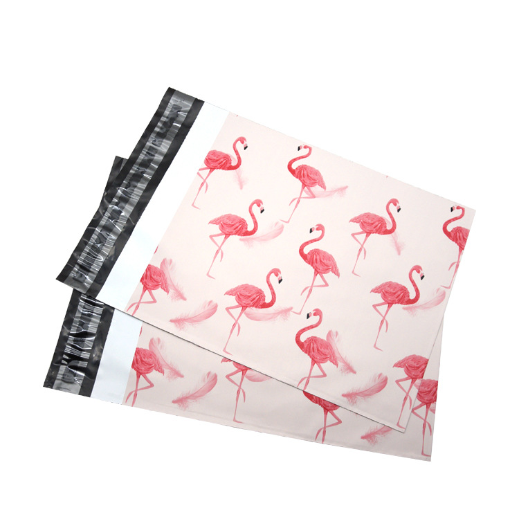 "Competitive Price  Waterproof Strong Adhesive Bag Pink Dot Plastic Envelope Mailing Packaging Bag Shipping Bag 10x14.5"" 50Pcs"