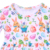 2020party wear frocks for baby girl cute rabbit print kids Easter dress beautiful model dress for girl 210year spring girlskirts