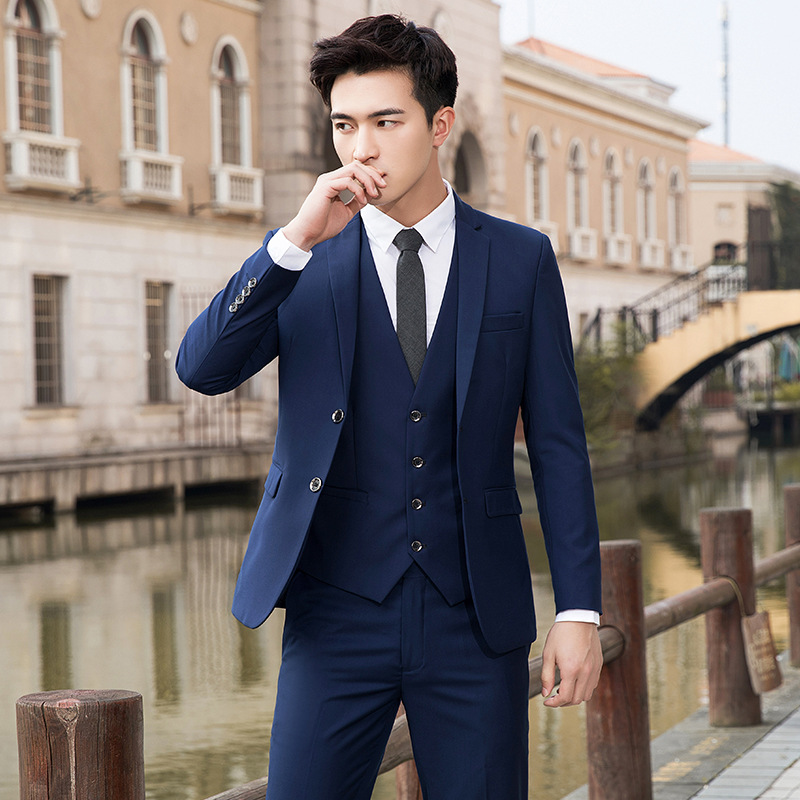 Wholesale New Arrival Fashion Men Slim Fit <strong>Suits</strong> Business <strong>Formal</strong> <strong>Suit</strong> with Pants Tuxedo Blue Wedding <strong>Suits</strong> for Men